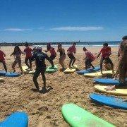Session surf Portimao groupe REGARDS