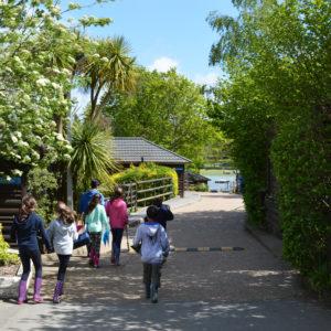 Les extérieurs du campus de l'ile de Wight