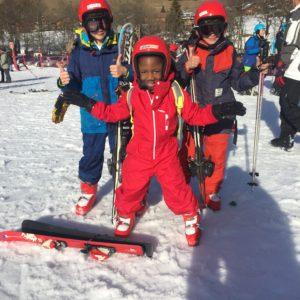Folie blanches au skis