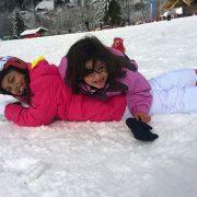 Folies blanches dans la neige