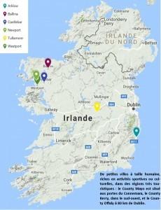 Carte sejour linguistique famille irlande